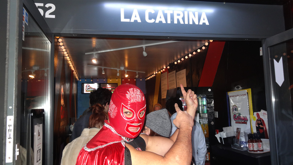 "Kankun sauce at ""La Catrina Opening Party"""