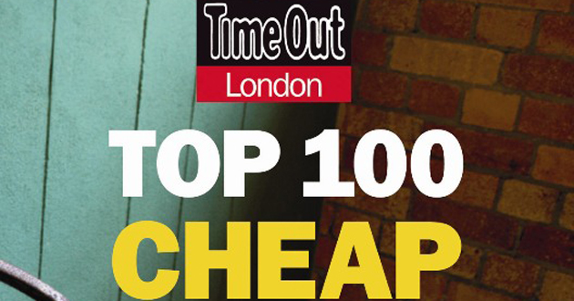 TimeOut Top 100 Cheap Eats