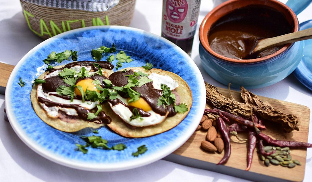Breakfast:  Huevos Rancheros with Mole
