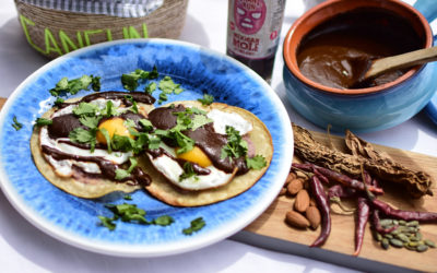 Breakfast:  Huevos Rancheros with Mole