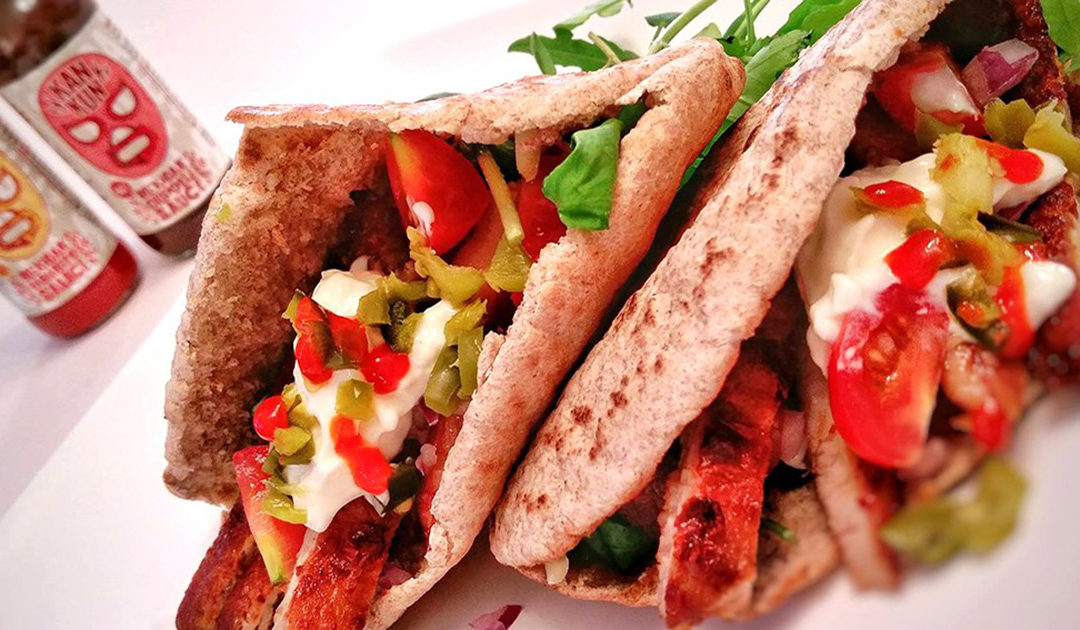 Chipotle Pork Pittas