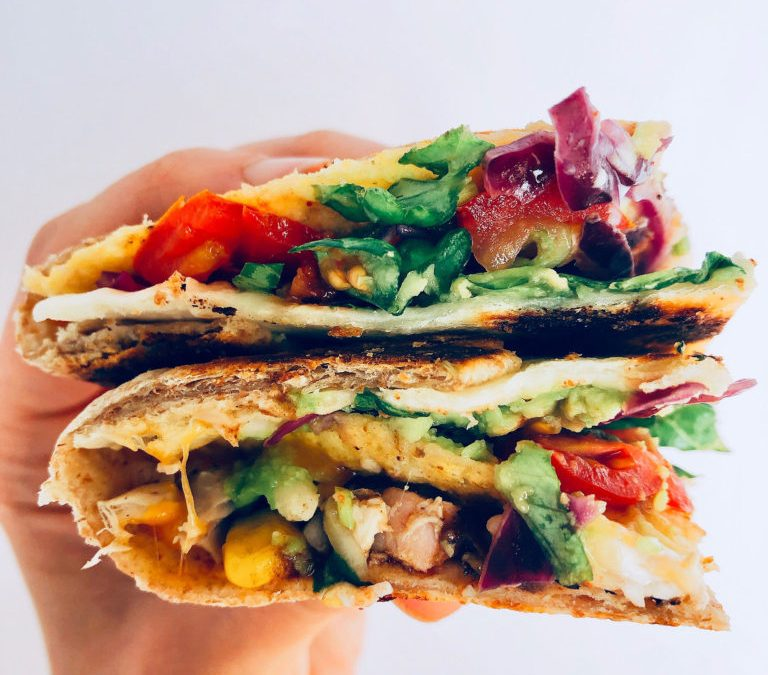 Chicken Crunch Wraps with Kankun Mexican Marinade