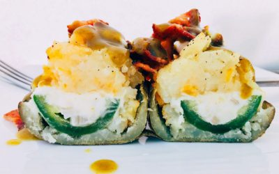 Mexican Monday – Jalapeño Popper Stuffed Twice Baked Potatoes